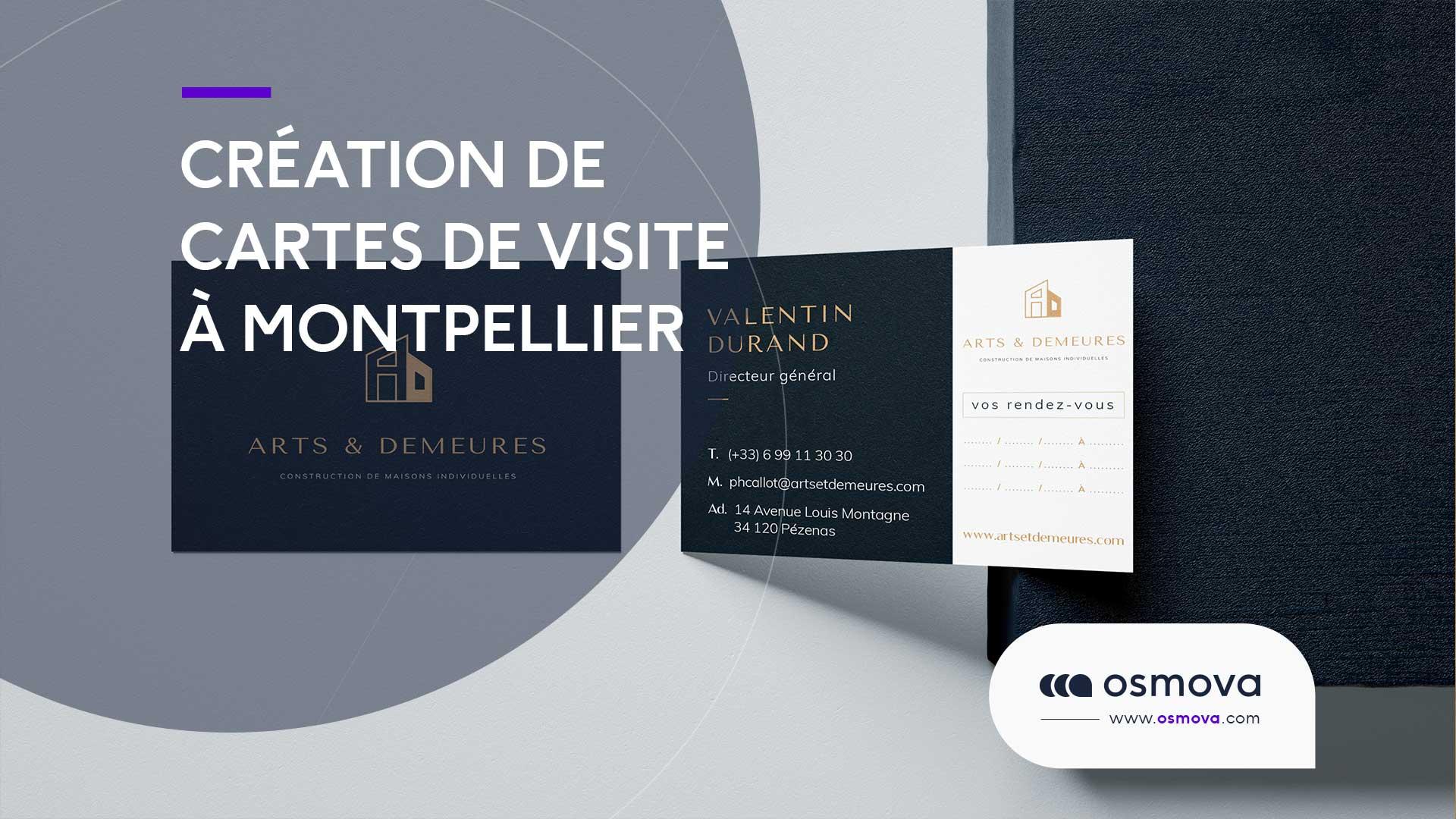 Création Cartes de visite professionnelles à Montpellier
